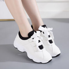 HX ladies breathable and comfortable flat-bottomed sports shoes wild casual shoes white 40