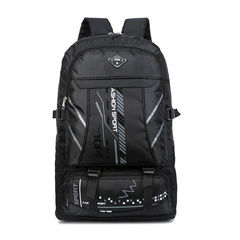 65 liters large capacity double outdoor travel bag men and women mountaineering bag luggage bag black f