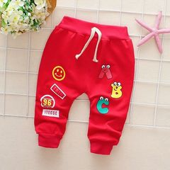 New twill cotton sweatpants spring and autumn baby pants men and women children's single pants A 80 (Recommended height 70-80CM)