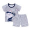 HX 2pcs Summer Children's Short Sleeve Set Cotton Baby Clothes Boys Girls T-Shirt Set A2 73CM Cotton