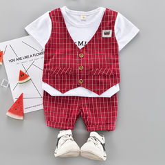 HX 2pcs children men and women baby summer suit children short-sleeved suit skin-friendly soft suit a1 73cm cotton