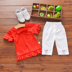 HX Summer boys and girls suit short sleeve + shirt children's wear a1 73(Recommended 5-10 months baby)