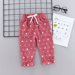 HX Girls boys summer thin section cropped trousers anti-mosquito summer pants a1 73(Recommended height 65-75cm)