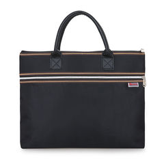 HX Waterproof Business Bag Conference Briefcase Leisure Affairs Package File Bag Oxford Computer black f(39*30*6cm)