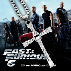 Fast & Furious Cross Diamond-Encrusted Necklace and Toledo Man Collar Silver one size