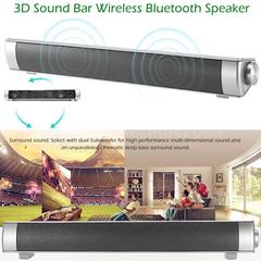 New Sound Bar Wireless Subwoofer Bluetooth Speaker Stereo Super Bass For TV PC Silver lp-08