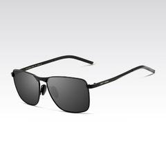 Men's Polarized sunglasses square full Frame sunglasses black /grey average size