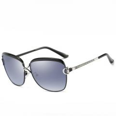 Cat's eye ladies` sunglasses, gradient polarized ladies' sunglasses ,5 colors ON SALE! black frame/grey lenses average size