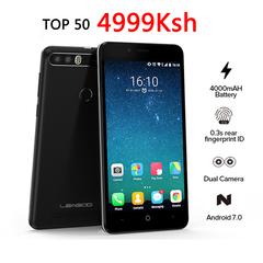 LEAGOO KIICAA POWER 5 Inch(2GB 16GB ROM) Dual SIM 3G 4000mAh Fingerprint Smartphone New mobile phone black