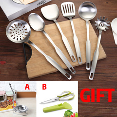 6pcs Cookware Set Cooking Tools Kitchen & Baking Tool Kit(6pcs Cooker/Shelf/Scissors with Magnets) A(spoonx6+shelfx1) as shown