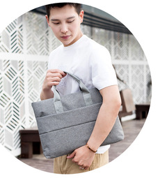 14in or15.6in Laptop handbag/fashion briefcase/Splash proof&wear resistant&portable grey-14inch
