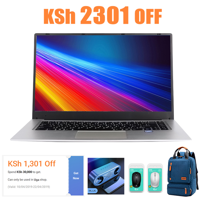 15.6inch New Narrow Bezel laptop Intel Quad Core Ultra-thin&light laptops long endurance notebook Silver/narrow bezel/15.6in 4G+64G SSD