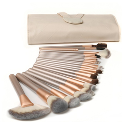 24&12pcs/Set Makeup Brush Powder Brush/Eye Shadow Brush/Eyebrow Brush/Lip Brush Makeup Beauty beige(24pcs)