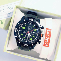 mechanical watches men quartz watch,large dial,Jaeger LeCoutre green dia:41mm,thickness:9mm
