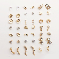 Collection of finest jewels 18 Pairs/Set earrings fashion women jewellery pearl earring gold&sliver as show