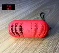 Portable Wireless Bluetooth Speaker CP/Phone stereo Bluetooth audio Capsule&Lightweight red 12.2x5.2x5.2cm