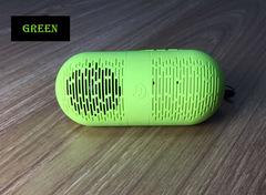 Portable Wireless Bluetooth Speaker CP/Phone stereo Bluetooth audio Capsule&Lightweight green 12.2x5.2x5.2cm