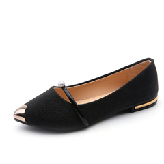 Spring Autumn New Ladies Flat Shoes Casual Women Shoes Comfortable Pointed Toe Flat Shoes black 6