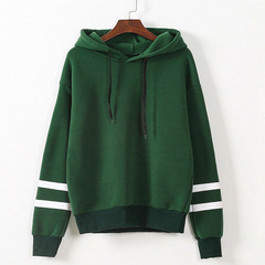 Womens Long Sleeve Hooded Sweatshirt Loose Casual Warm Hoodies Sweatshirts Female Jumper Tracksuits green xl