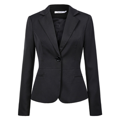 2019 Ladies work suit office business coat ladies elegant work suit large size 5XL black s