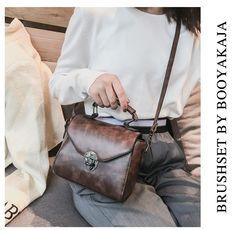 Fashion vintage women's bags new fashion retro cross body bags delicate women's must-have handbags brown m