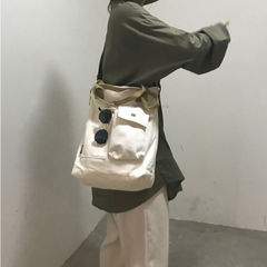 Canvas Tote Bag Women Handbags Female Designer Large Capacity Leisure Shoulder Bags Big Travel Bags white big