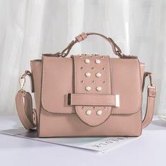 New rivet shoulder crossbody handbag for women Ladies mini crossbody bag pink m