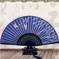 Fan folding fan Chinese style classical silk silk retro dance gift and fan 1 21