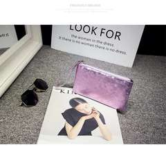 Handbag fashionable lady hand mobile phone purse sequin cosmetic bag purple one size