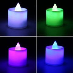 LED flash candle light dinner spa party bar room decoration safety light random color 45x35mm