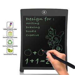 Office electronic drawing board LED tablet for children and adults black 8.6x5.7in