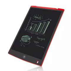 Office electronic drawing board LED tablet for children and adults red 8.6x5.7in