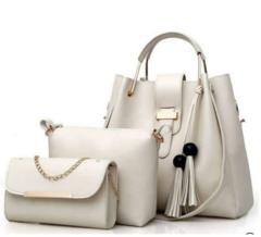 Ladies Handbags- Black 3-in-1 Off- White 3- in-1