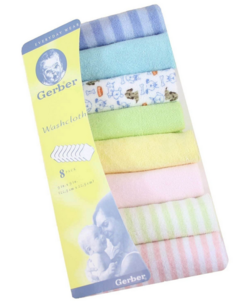 8Pcs Assorted Colors Infant Wash Clothes Bath Feeding Wipe Clothes Multi coloured one size