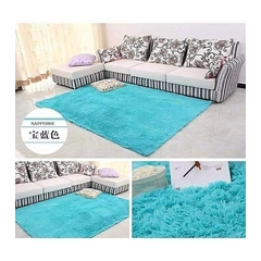 Fluffy Soft  warm Cosy carpet 5*7 turquoise Blue 5*8