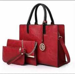 3 - in 1 Elegant Ladies Handbag black 3- in-1