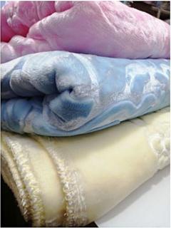 Warm silky Baby Shawl Blanket Cream Normal
