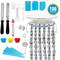 106pcs/set,Cake Decorating Supplies,54 Stainless Steel Cake nozzles,Cookies Pastry Cakes Making Tool as picture as picture