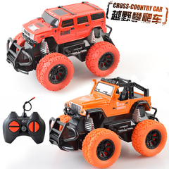 4-channel wireless remote-controlled toy off-road vehicle;remote-controlled car;children's toy car Jeep(random colors) one size