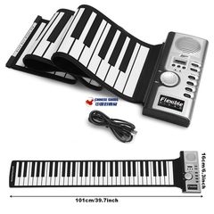 61 key soft piano with speaker,folding piano,Electronic organ,Portable piano,musical instrument,toy