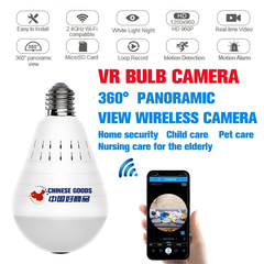 Wireless Light Bulb Hidden Camera with Night Vision/Motion Detection,Hidden IR Camera,Video Camera 960P White light(no card) one size