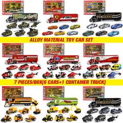 7pcs/set,1:16 alloy toy car,children toy car,Car model,Toy Vehicles,Toys construction engineering vehicle (7 pieces/set) one size