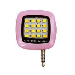 OAQ 1 pcs Led selfie flash light Mobile Phone Photo Supplementary Light Fill-in light pink as pictures