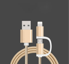 2 in 1 Connector USB Universal Charging Cord Adapter random one size