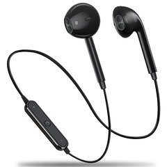 S6 Hanging earphones sports earphones Wireless Headphones Bluetooth Earphone Sport Headset For Phone black