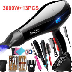 3 Min Fast Drying Hairdryers 2 - 3000W Hair Salon Barber Shop Home Hair Dryer Straightener Hair Iron black 3000w Hairdryers + 13pcs high power