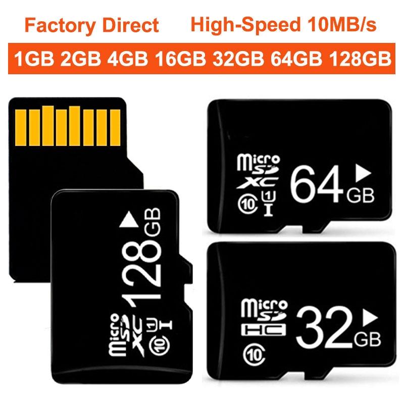 Factory Direct High Speed 10M S Memory Micro TF SD Card128GB 64GB 32GB 16GB 8 1 2 4 GB SDXC SDHC Card 1gb