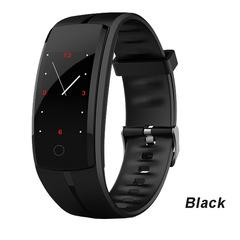 QS100 Smart Wristband Heart Rate Monitor Fitness Tracker Smart bracelet Blood Pressure Sport Band black men wome smartwatch