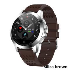 W8 Smartwatch ECG+PPG Wristwatch Pedometer IP67 Smart Watch Men Women Bluetooth Band Sports Watches silicon brown men wome smartwatch