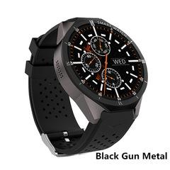 KW88 Pro Smart Watch GPS 3G Quad Core 1.3GHz Bluetooth 4.0 1.39 Inch Heart Rate Monitor Smart Band black gun metal men wome smartwatch